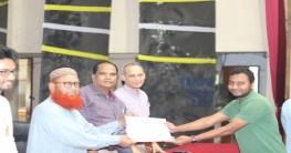 হাবিপ্রবি রেড ক্রিসেন্ট সোসাইটির বেসিক ট্রেনিং এর সনদ প্রদান
