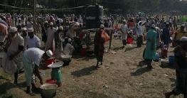 রংপুরে ঘাঘট নদীর কোল ঘেঁষে শুরু হয়েছে ৩ দিনব্যাপী ইজতেমা