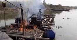 অবৈধভাবে বালু উত্তোলন: মেশিন ধ্বংস করল ভ্রাম্যমাণ আদালত