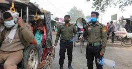 করোনা: বদরগঞ্জ শহরে ঢুকতে হলে পরতে হবে মাস্ক