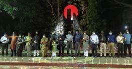 ২৫ মার্চ কালো রাতে শহিদদের স্মরণে রংপুরেমোমবাতি প্রজ্জ্বলন