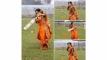 বিশ্ব মিডিয়ায় ভাইরাল ব্যাট হাতেসানজিদার হলুদের ছবি