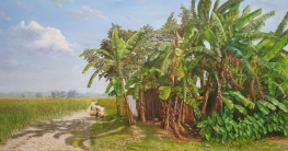 নুরের রং-তুলির আঁচড়ে জীবন্ত গ্রামবাংলা